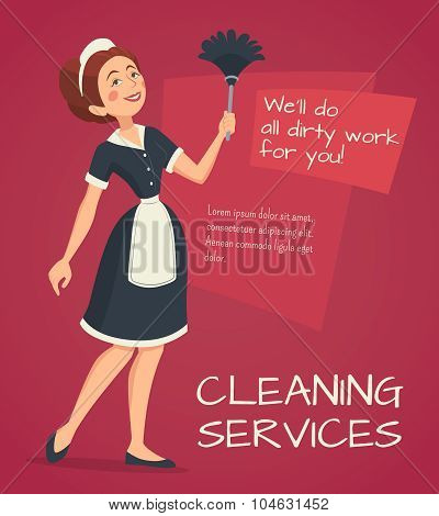 Cleaning Advertisement Illustration