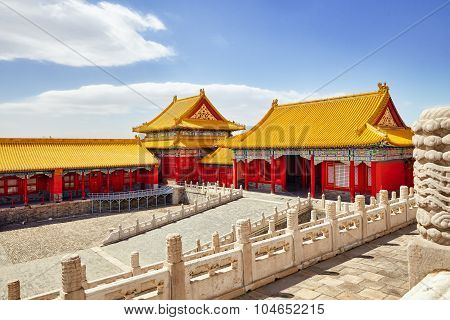The Main Of The Imperial Palace  Inside The Territory Of The Forbidden City Museum In Beijing In The