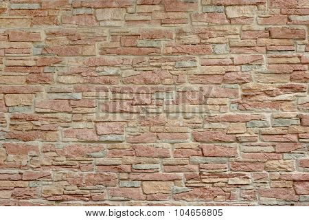 Decorative Modern Tiled Wall Finish Covering With Stone Imitation Texture Background Close-up poster