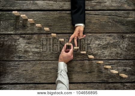 Conceptual Image Of Business Partnership And Support