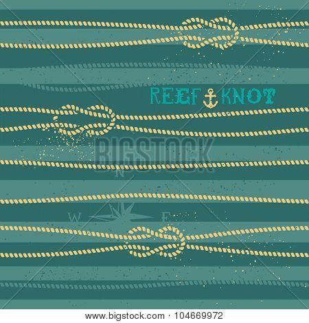 Vintage nautical knot seamless pattern