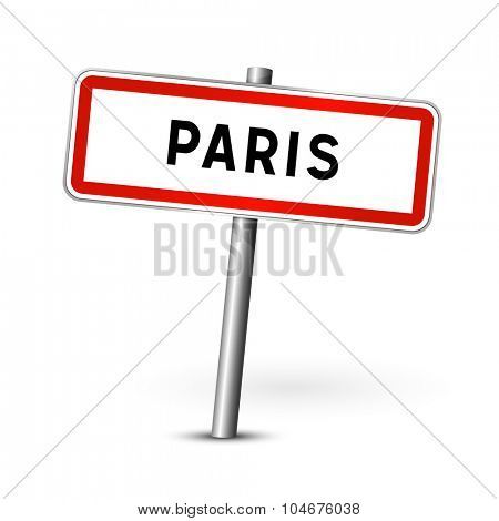 Paris France - city road sign - signage board