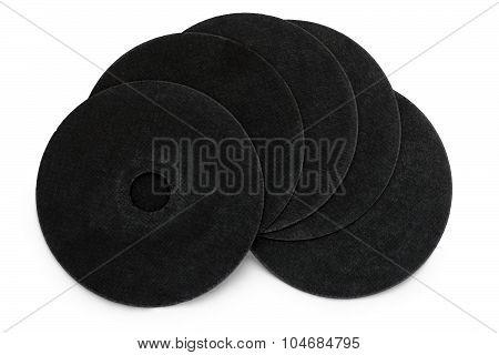 Black Abrasive Vulcanite Discs