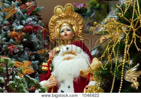 Chinese Female Doll And Santa