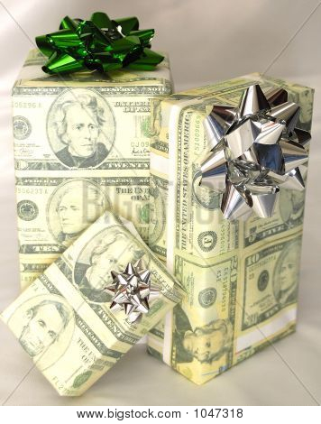 Presents Wrapped With Money