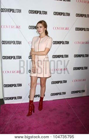 LOS ANGELES - OCT 12:  Zoey Deutch at the Cosmopolitan Magazine's 50th Anniversary Party at the Ysabel on October 12, 2015 in Los Angeles, CA