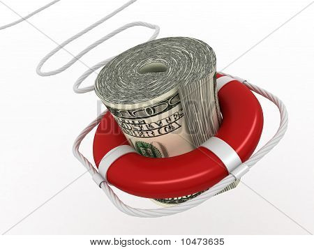 Lifebouy With Dollar