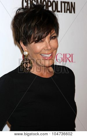 LOS ANGELES - OCT 12:  Kris Jenner at the Cosmopolitan Magazine's 50th Anniversary Party at the Ysabel on October 12, 2015 in Los Angeles, CA