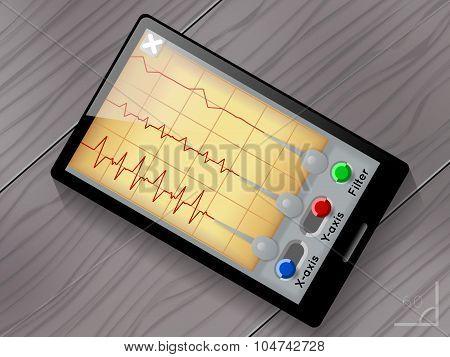 Seismograph app vector user interface