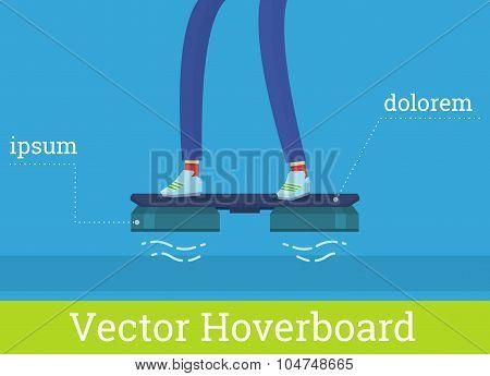 Vector hover board illustration
