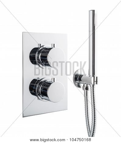 Chrome Shower Head & Controls