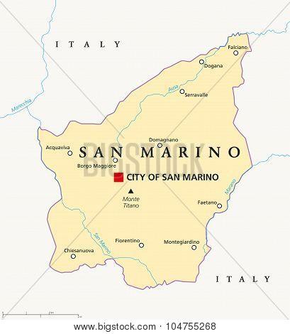 San Marino Political Map