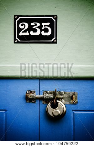 Padlock And Number 235