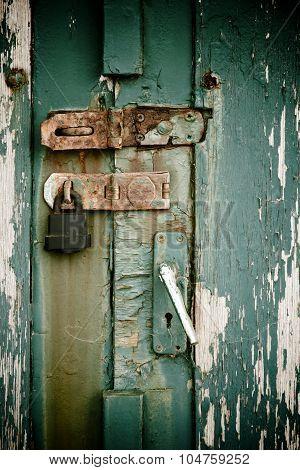 Door With Rusty Lock