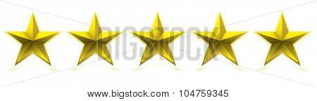 Gold five star award for your company