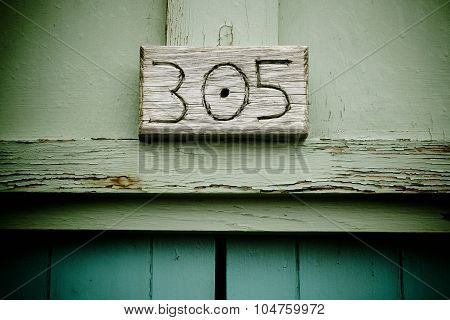 305 Wooden Sign