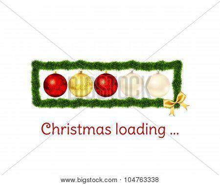 Christmas loading bar on white background.