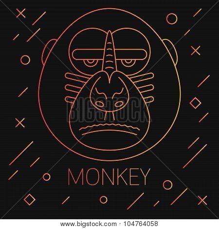 The Monkey Head Illustration
