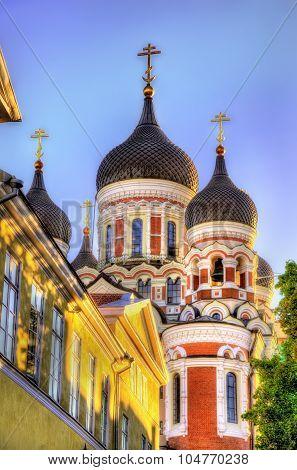 Saint Alexander Nevsky Cathedral In Tallinn - Estonia