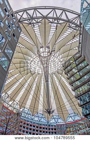 Roof Of Sony Center At Potsdamer Platz, Berlin