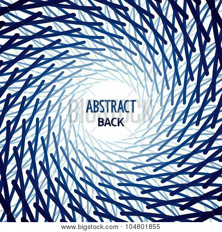 Abstract geometric template