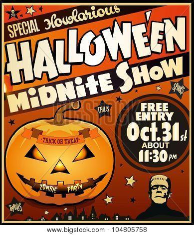 Halloween Vintage Poster