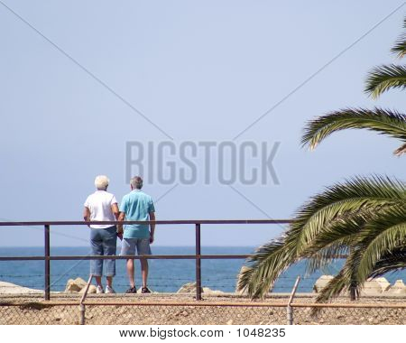 Couple Viewing Ocean