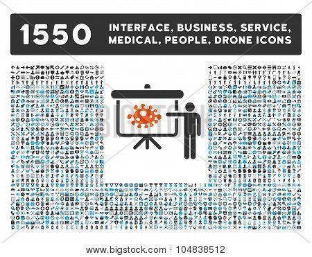 Bacteria Lecture Icon and More Interface, Business, Medical, People, Awards Vector Symbols