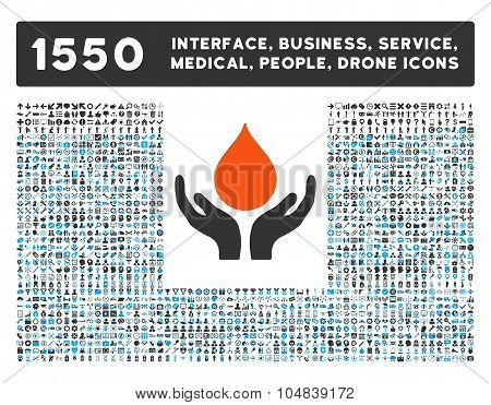 Blood Donation Icon and More Interface, Business, Medical, People, Awards Vector Symbols