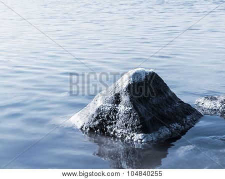 Petrified Salt Is Made In A Dry Natural Estuary In The Evening Light Of The Setting Sun. The Water H