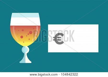 Beer bottle price blank vector