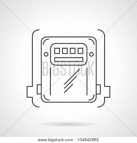 Counter box thin line vector icon