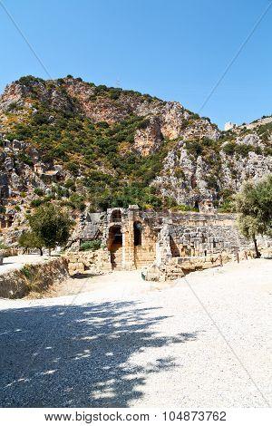 Myra In Turkey  D Indigenous Tomb