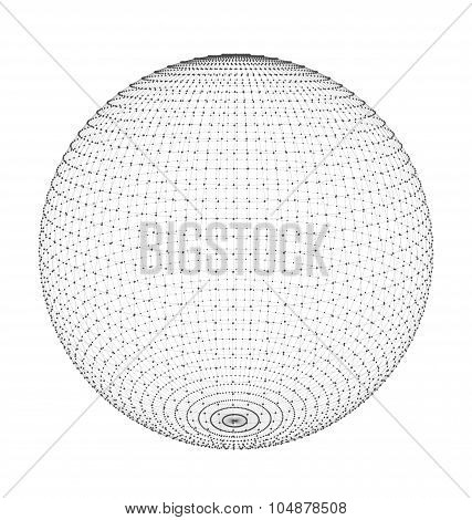 Abstract Circle with Mesh Polygonal Elements