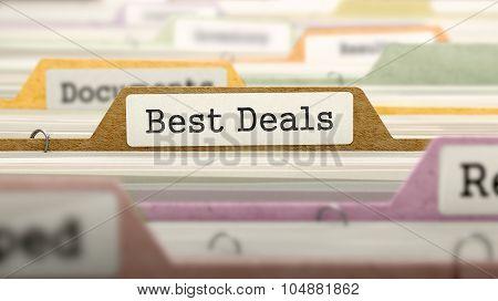 Folder in Catalog Marked as Best Deals.