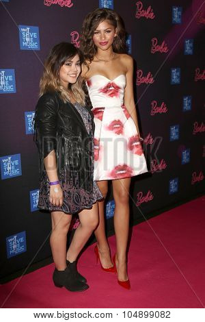 LOS ANGELES - SEP 26:  Alyssa Bernal, Zendaya Coleman at the Barbie Rock 'N Royals Concert Experience  at the Hollywood Palladium on September 26, 2015 in Los Angeles, CA