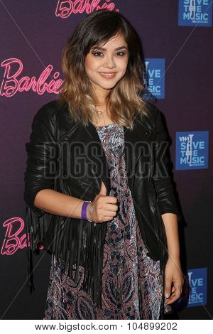 LOS ANGELES - SEP 26:  Alyssa Bernal at the Barbie Rock 'N Royals Concert Experience  at the Hollywood Palladium on September 26, 2015 in Los Angeles, CA