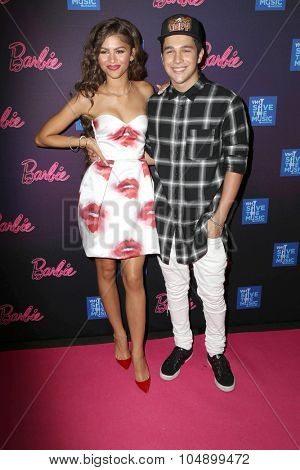 LOS ANGELES - SEP 26:  Zendaya Coleman, Austin Mahone at the Barbie Rock 'N Royals Concert Experience  at the Hollywood Palladium on September 26, 2015 in Los Angeles, CA