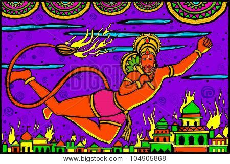 Lord Hanuman Lanka Dahan