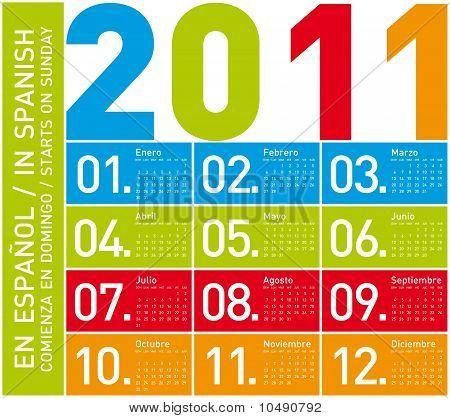 Colorful Calendar 2011 (spanish)