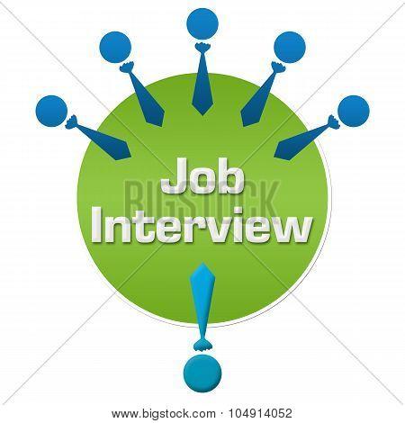 Job Interview Human Icons Circular