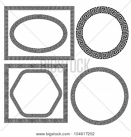 Set of Greek Ornamenal Frames