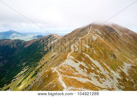 climbing Ostry Rohac peak at Tatras