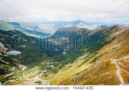 view from Ostry Rohac peak at Tatras