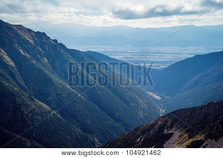 skyline view from Ostry Rohac peak at Tatras