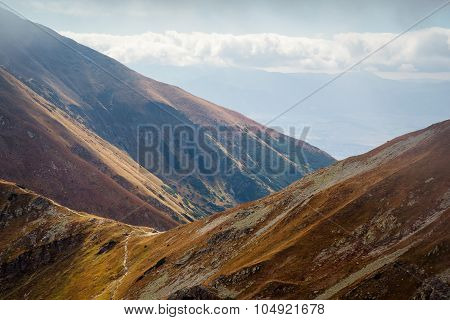 view from Placlive peak at Tatras