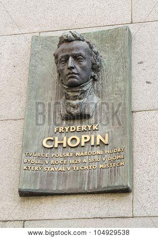 Frederic Chopin memorial in Prague