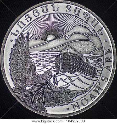 Armenia Silver Coin (noahs Ark)