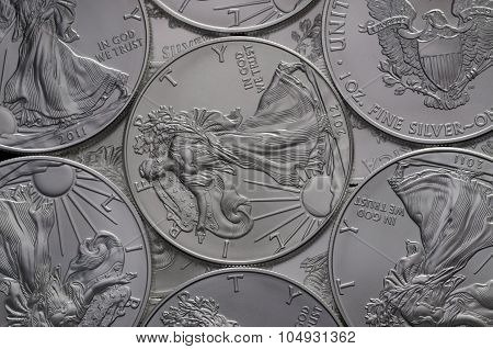 Hoard Of United States (us) Silver Eagle Coins