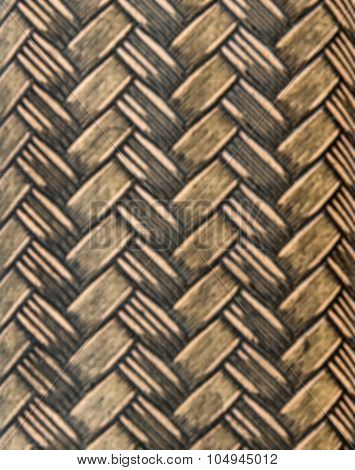 Weaving rattan basket A close-up texture of rattan basket trays poster